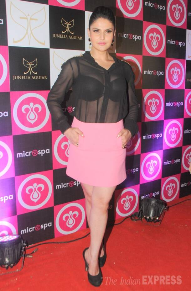 Zarine Khan heats things up, steps out in a see-through top