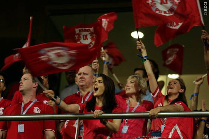 Preity Zinta, co-owner of Kings XI Punjab, was once again hooting for her team as they played Chennai Super Kings in Mumbai in the second eliminator. Punjab were looking to qualify for their first ever IPL final while Chennai their sixth. (Source: BCCI/IPL)