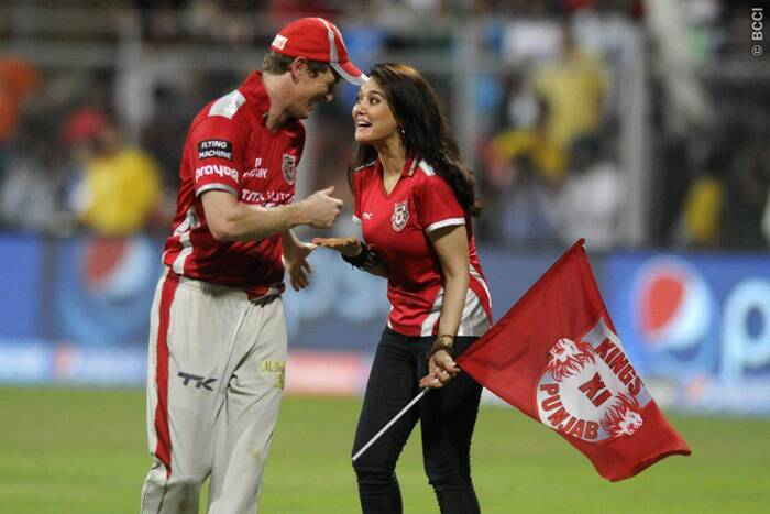 This has been a turnaround for Kings XI Punjab as the Preity Zinta-owned team will face Shahrukh Khan-owned Kolkata Knight Riders in the final in Bangalore on Sunday. Geogre Bailey and Preity Zinta share the happy moment after their team's win over Chennai Super Kings. Zinta tweeted after the match- '#Raina was brilliant 2night & almost gave me a heart attack. Thankgod  he's part of team INDIA. Thank U Mumbai 4the support 2night :-) Ting.'  (Source: BCCI/IPL)