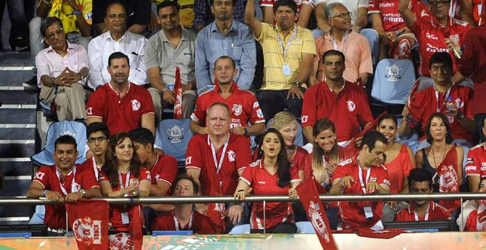 WIth all the team staff and co-owners present in the stands, Preity Zinta cheered for her team in every match of the IPL. This has been a trend ZInta has followed for all the editions. The luck has finally come good for her team as Punjab stormed into their first ever IPL final. (Source: IE Photo by Kevin D'Souza)