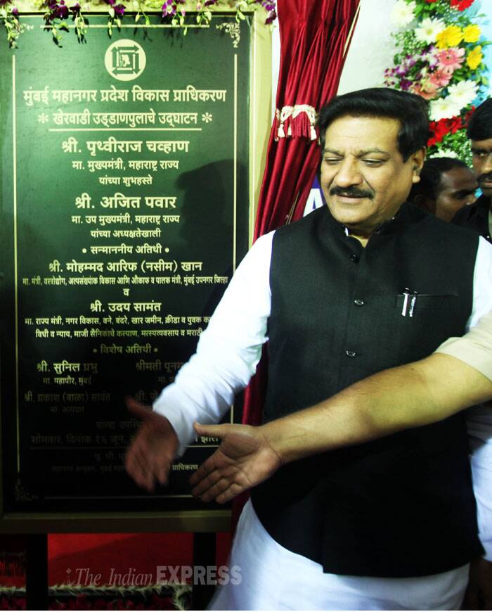 With Chavan inaugurating the third and final phase which connects Panjarpol to Ghatkopar, the entire stretch became operational for vehicular traffic. (Source: Express photo by Pradip Das)
