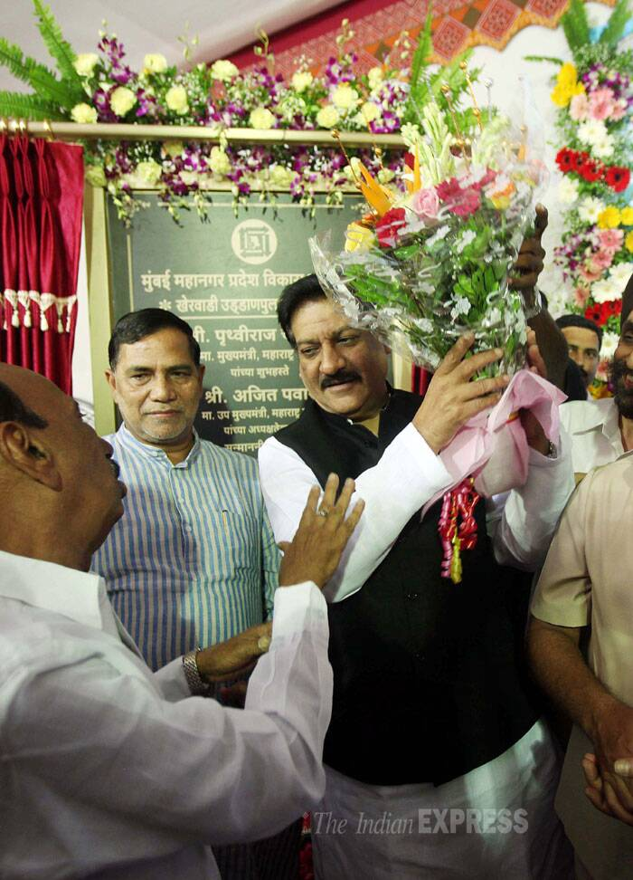 """Through Mumbai Metropolitan Region Development Authority (MMRDA), we have completed over 14,430 crore worth infrastructure projects and another Rs 10,000 crore worth are under progress,"" Prithviraj Chavan said after the inauguration.(Source: Express photo by Pradip Das)"