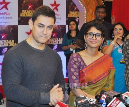 Aamir Khan breaks his own rule, attends Star Parivaar Awards with wife Kiran