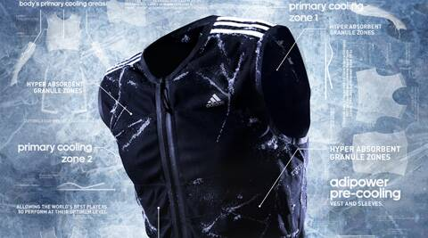 The Adidas- adipower pre-cooling vests, players will be using them prior to the games to reduce body temperature and slow down fatigue. (Source: adidas.com)