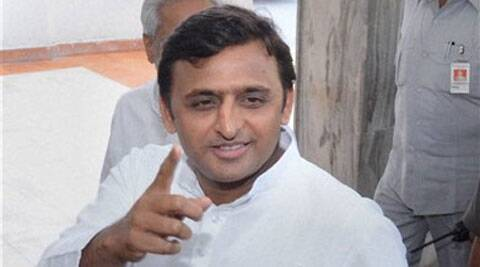 Uttar Pradesh CM Akhilesh Yadav is seen giving final touches to the Budget, in Lucknow. (PTI)