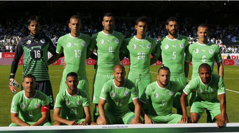 Algeria's's national football team poses before a friendly match against Armenia in Sion. (Source: Reuters)