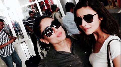 Kareena Kapoor and Alia Bhatt clicked a selfie, highlighting their meet-up. (Source: Twitter)