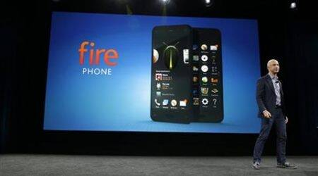 Amazon CEO Jeff Bezos introduces the new Amazon Fire Phone in Seattle. (Source: AP)
