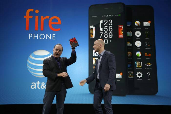 Amazon on Wednesday unveiled a 'Fire' smartphone that will be closely tied to the products and services it sells, while adding such touches as the ability to render images in 3-D. (Source: AP)