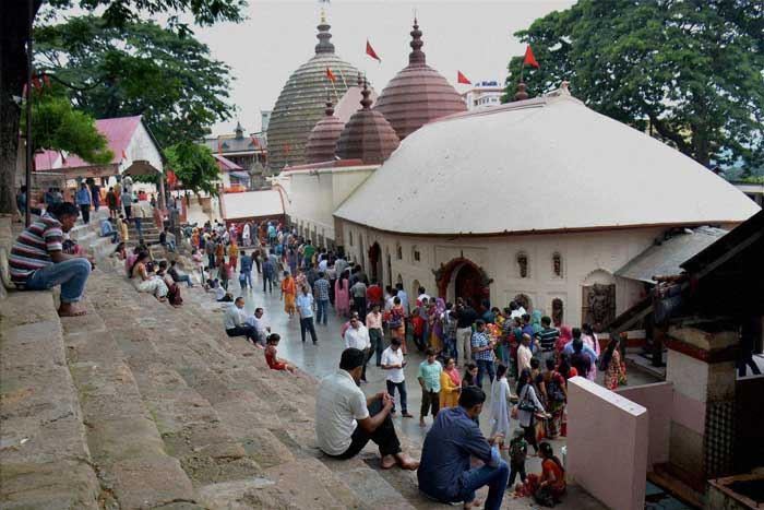 Meanwhile, devotees from across the country have started reaching the Kamakhya Temple in Guwahati ahead of the annual 'Ambubachi Mela'. (Source: PTI)