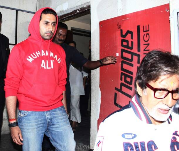 Amitabh enjoys movie night with Abhishek as ladies Jaya, Aishwarya holiday in London