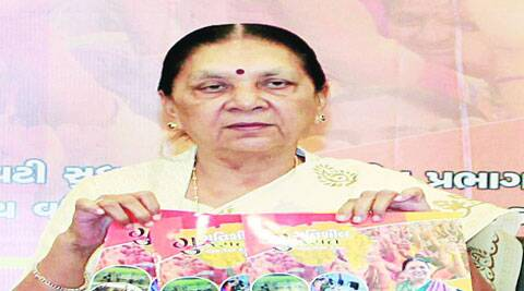 CM Anandi Patel launches a book in Gandhinagar on Monday. (Source: PTI)