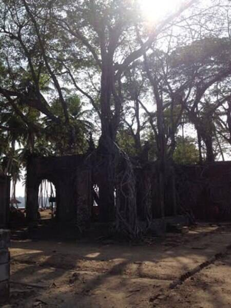 The ruins of buildings at the Ross Islan. (Source: Divya Goyal)