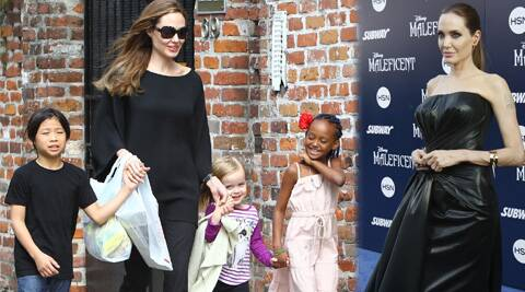 Angelina Jolie admits she finds it tough to protect her children from videos with 'drugs or nudity'.