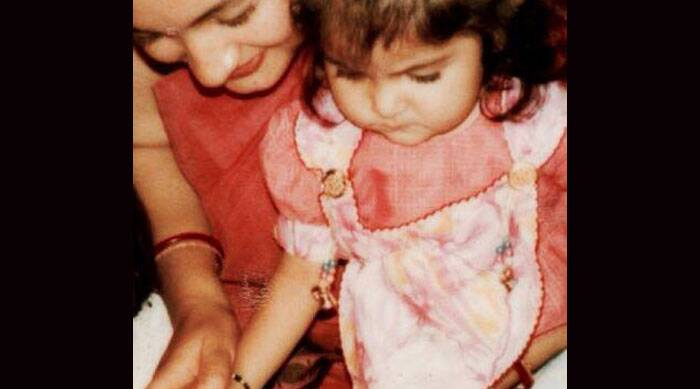 Actress Anushka Sharma is no doubt an absolute beauty today. However, her childhood picture is absolutely adorable. Clicked along with her mother, Anushka has a serious expression and the chubbiest cheeks.  (Source: Twitter)