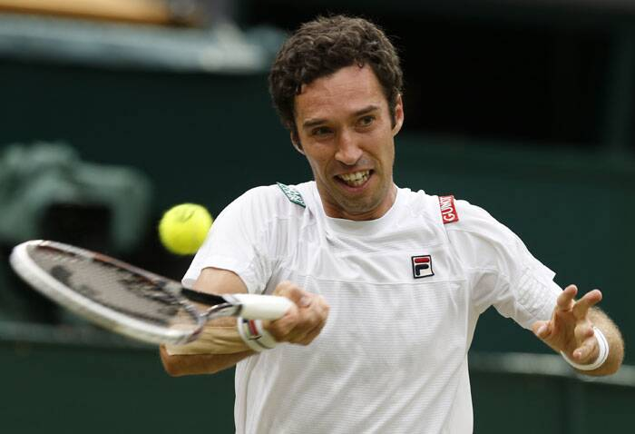 Kukushkin, 26, had never won a game at Wimbledon before this year. came out guns blazing, using a big first serve and strong forehand to keep Nadal at bay In the first set (Source: AP)
