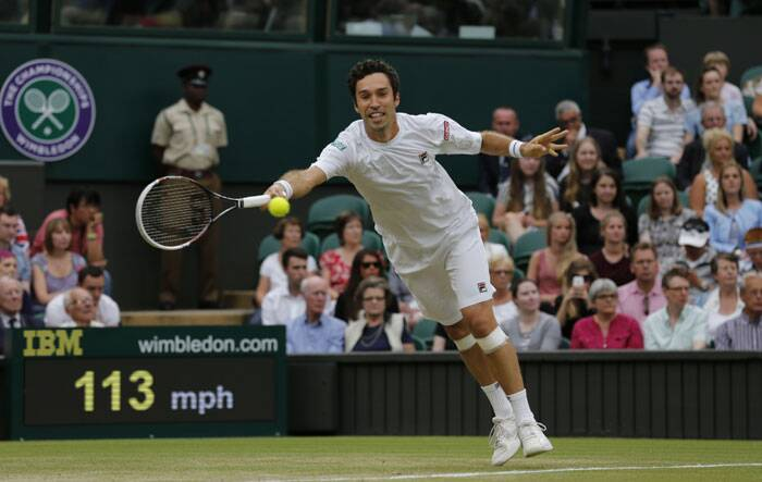 Kukushkin held three set points at 6-3 in the tiebreaker, Nadal got one back with his second ace of the tiebreaker. But Kukushkin took the first set when Nadal's backhand went long. (Source: AP)