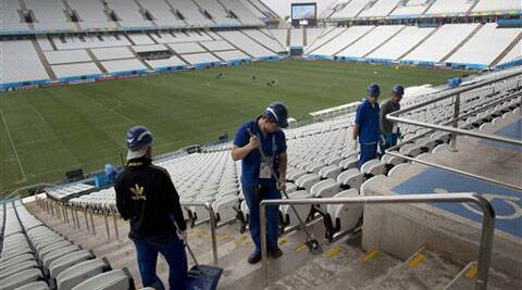 Obese people will find chairs that cater to their size at the Arena Corinthians. (Source: AP)