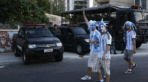 Argentina's 2-1 victory attracted a capacity crowd of 74,738 at Maracana, the biggest stadium at the World Cup which was hosting its first match. (Source: AP)