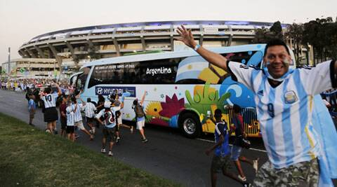 As many as 50,000 fans of Argentina have turned up at Rio for the side's opening game against Bosnia and Herzegovina on Sunday (Source: AP)