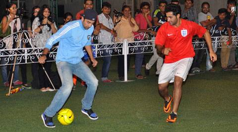 Kapoor cousins Ranbir Kapoor and Armaan Jain, both football lovers, organised a friendly football evening in Mumbai on Tuesday (June 16).