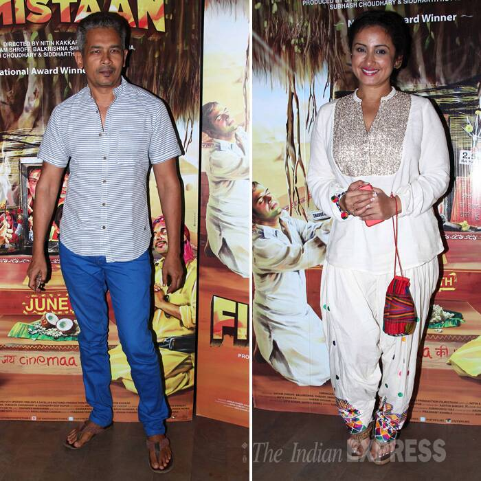 National Award winning actor Atul Kulkarni and actress Divya Dutta were also present for the screening. (Source: Varinder Chawla)
