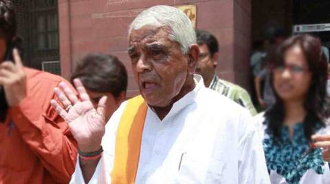 Former Madhya Pradesh Chief Minister Babulal Gaur. (Source: Express Archives)