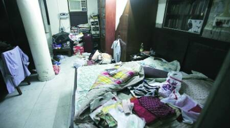 Major Rohit Sethi's  bedroom was found ransacked. (Express Photo: Amit Mehra)