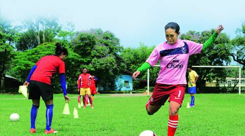 Shot at glory: Oinam Bembem at practice in Imphal