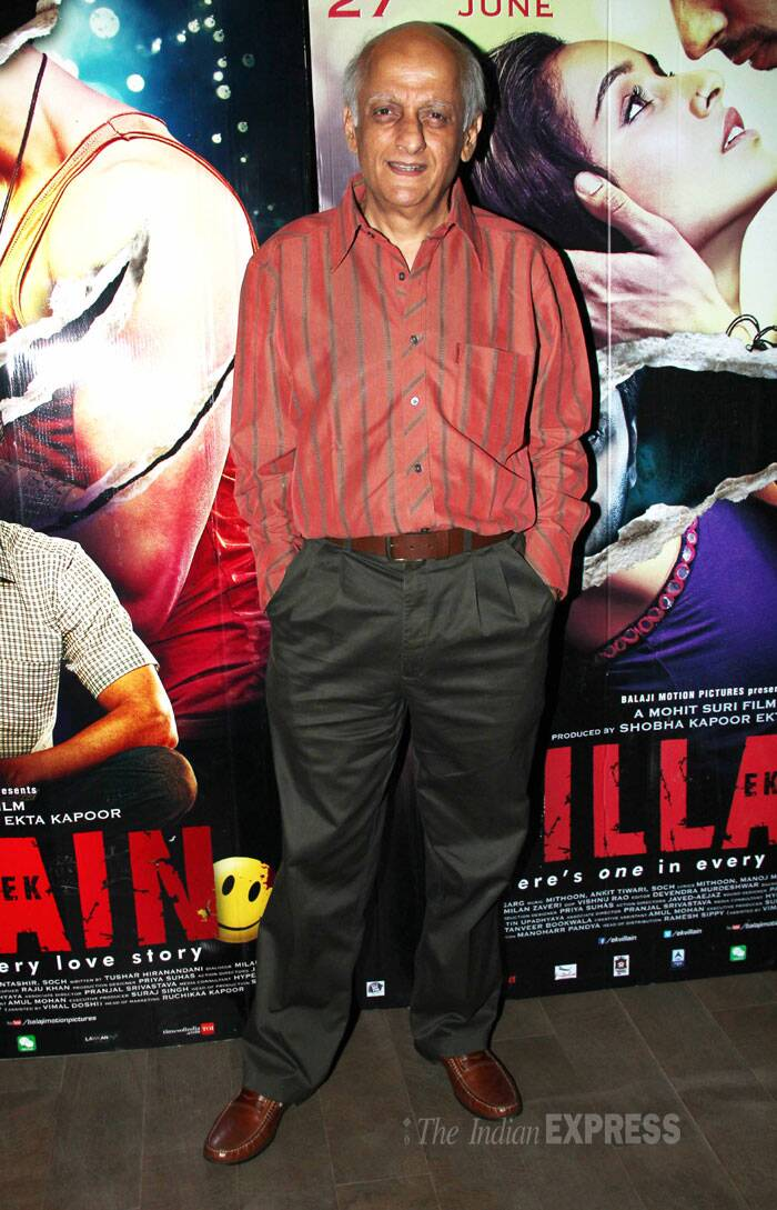 Mukesh Bhatt also attended the special screening of the upcoming release. (Source: Varinder Chawla)