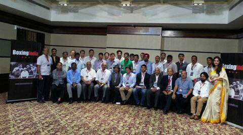 The presidents of the 26 state boxing associations at the Boxing India meeting. (Source: Boxing India)