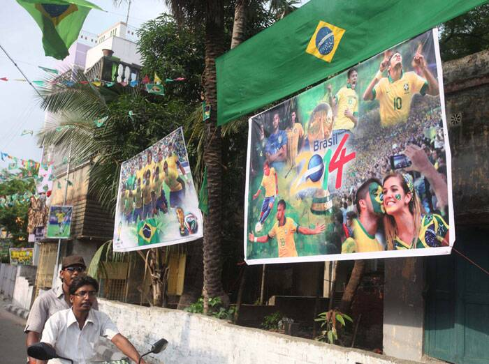 From old photographs to latest posters, Kolkata's football fanatics seem to have no dearth of World Cup-related paraphernalia. (Source: IE Photo by Partha Paul)