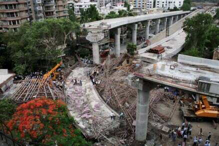 Two dead as under construction bridge collapses in Surat