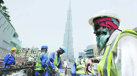 A file picture of workers at a construction site in Dubai. (Source: Reuters)