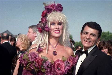 In this Sept. 20, 1987 file photo, Casey Kasem, along with his wife Jean Kasem arrives at the Emmy Awards in Los Angeles.