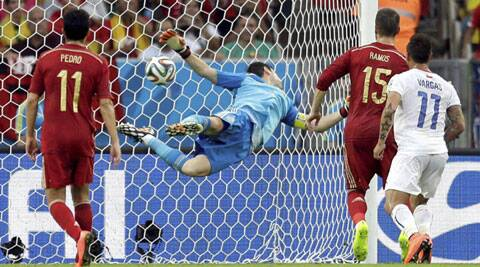 Casillas, who had a poor game against the Dutch, was at fault again for the second goal (Source: AP)