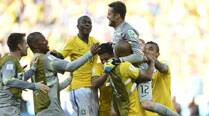 FIFA World Cup: Julio Cesar, woodwork stand firm as Brazil see offChile