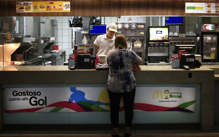 If one's budget isn't immediately busted by the flight or the hotel, it will soon be done in by the $10 caipirinha cocktail, the $17 cheeseburger or the $35 pepperoni pizza. And those are the prices city-dwelling Brazilians saw even before the World Cup set off. The examples of the most expensive products due to high taxes are: Levi 501 jeans start at $80. The $6.28 Big Mac is among the most expensive in the world.(Source: AP)