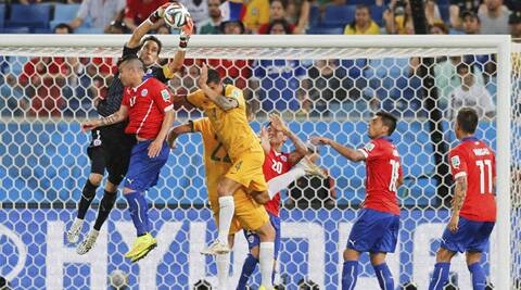 Chile defeated Australia to take home three important points in Group B (Source: AP)