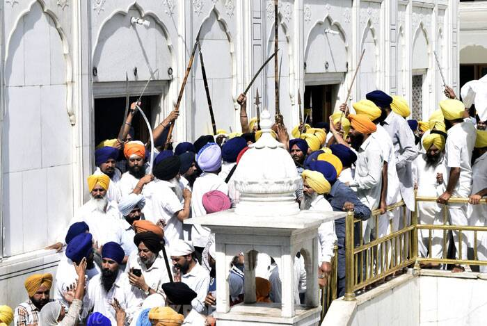 The anniversary of Operation Bluestar was observed at the marbled periphery of Harmandar Sahib, popularly known as the Golden Temple. (Source: Express photo by Rana Simranjit Singh)