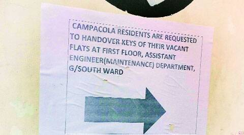 SC had fixed the deadline of May 31 for Campa Cola residents to vacate their unauthorised houses.