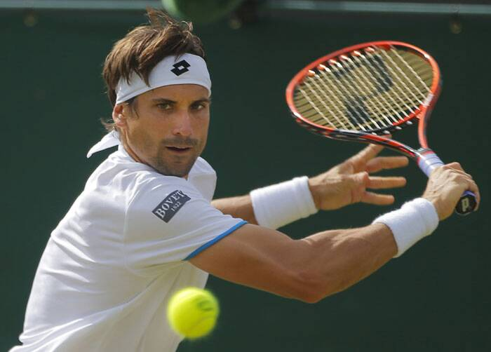 Seventh-seeded David Ferrer (in pic) 6-7 (5), 6-0, 3-6, 6-3, 6-2 lost to Andrey Kuznetsov of Russia. The seventh-seeded Ferrer's loss was his first in the second round at a major since the 2010 Australian Open. (Source: AP)