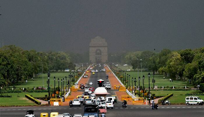 Meanwhile in Delhi, the weather turned cloudy. (Source: PTI)