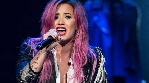 Demi Lovato has always been experimenting with her tresses from quite sometime. (Source: AP)