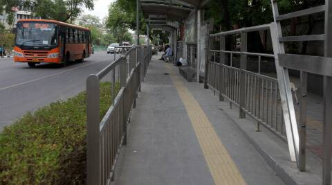 Most bus stops do not have ramps for the disabled