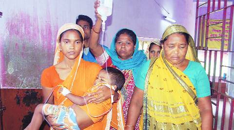 A mother with her child at Malda hospital.