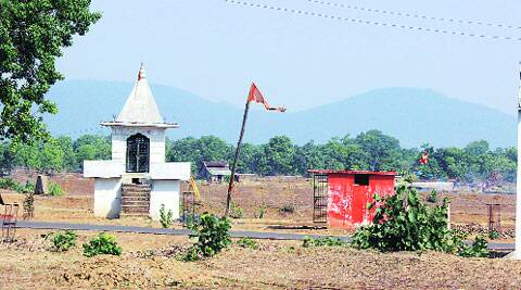 The controversial land where Dalits want to build a Buddha Vihar.