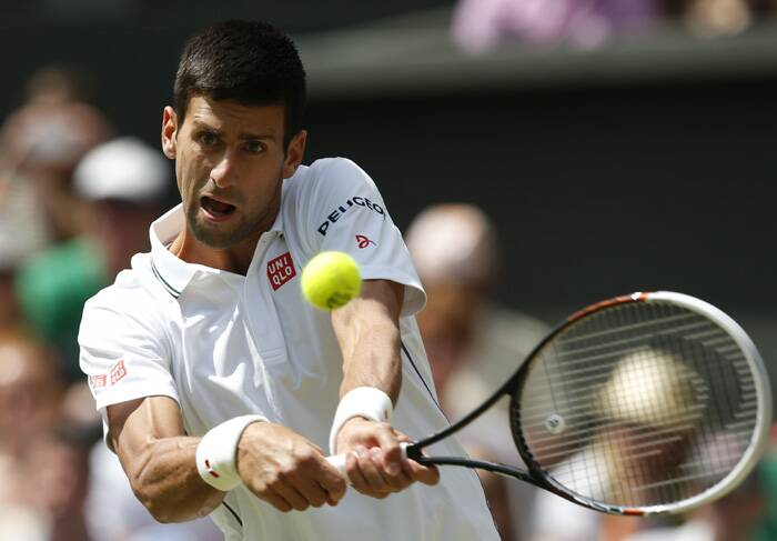 Top-seeded Novak Djokovic clashed with France's Gilles Simon at the Centre Court on Friday. (Source: AP)