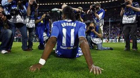 Drogba who became UNDP Goodwill Ambassador in January 2007. ( Source: Reuters )
