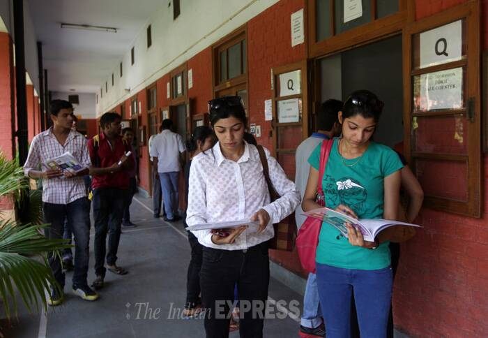 The University Information Centre can be reached on 01127006900.Additionally, the University has also set up an extension to the original line, 155215, being manned by 17 student volunteers from different colleges of Delhi University. (Source: Express photo by Amit Mehra)